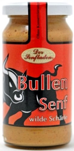 Altenburger BULLEN Senf - scharf mit Chili --- 200 ml Glas 26235