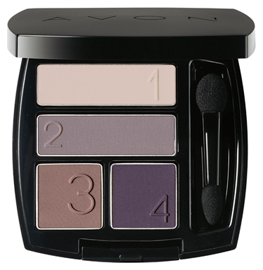 1a AVON Lidschatten-Quartett --- True Colour --- Smoky Plum --- 5 g