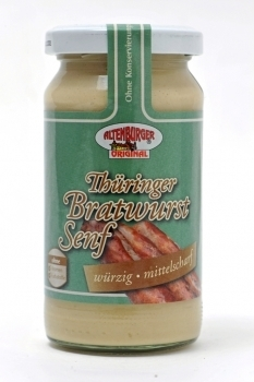 Altenburger Senf --- Bratwurstsenf --- 200 ml Glas 40403