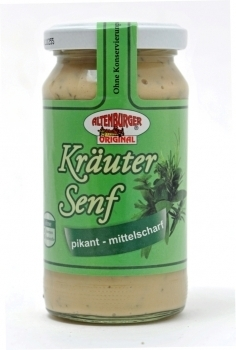 Altenburger Senf --- Kräutersenf --- 200 ml Glas 27020