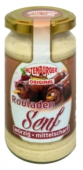 Altenburger Senf --- Rouladen Senf --- 200 ml Glas 27160