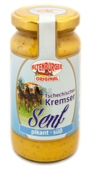 Altenburger Senf --- Tschechischer Kremser Senf --- 200 ml Glas 27330