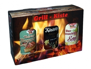 Altenburger Senf Set --- Grill Kiste --- 3 x 200 ml Glas 33336