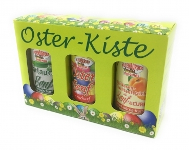 Altenburger Senf Set --- Oster Kiste --- 3 x 200 ml Gläser 33346