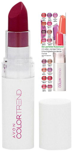 1a AVON Lippenstift --- Color Trend Kiss 'n' Go --- Berry Moves --- 3,6 g
