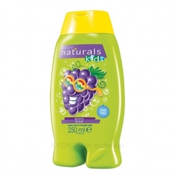1a AVON Duschgel + Schaumbad --- Naturals Kids --- Groovy Grape --- 250 ml