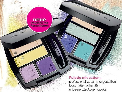 1a AVON Lidschatten-Quartett --- True Colour --- Floral Fantasy --- 5 g