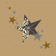 1a Duni Dunilin-Servietten --- Walk of Fame Cream Kraft --- 40 x 40 cm --- 50 Stück