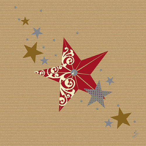 1a Duni Dunilin-Servietten --- Walk of Fame Red Kraft --- 40 x 40 cm --- 50 Stück